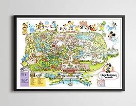 Vintage 1979 DISNEY WORLD Park Map Poster! (24 x 36 or Smaller!) - TomorrowLand - DisneyLand - Magic Kingdom - Mickey Mouse - Wall Decor