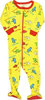 INTIMO Baby Girls' Infant Dr. Seuss One, Two Fish Pajama Sleeper