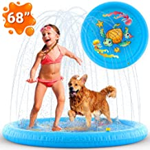 Inflatable Splash Pad Sprinkler for Kids Toddlers, Kiddie Baby Pool, Outdoor Games Water..