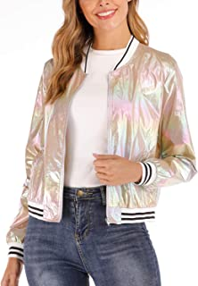 Sequin Loose Disco Tops for Women, Metallic Club Glitter Sparkle Shine Party Short Sleeve Shirt Blouse Lightweight