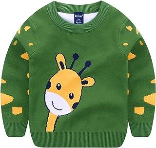 Niños Suéter de Punto Manga Larga Jersey Sudadera Pullover Prendas de Punto Top de Algodón Saltador