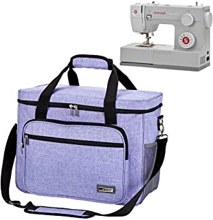 HOMEST Sewing Machine Carrying Case, Universal Tote Bag with Shoulder Strap Compatible with Most Standard Singer, Brother, Janome, Purple
