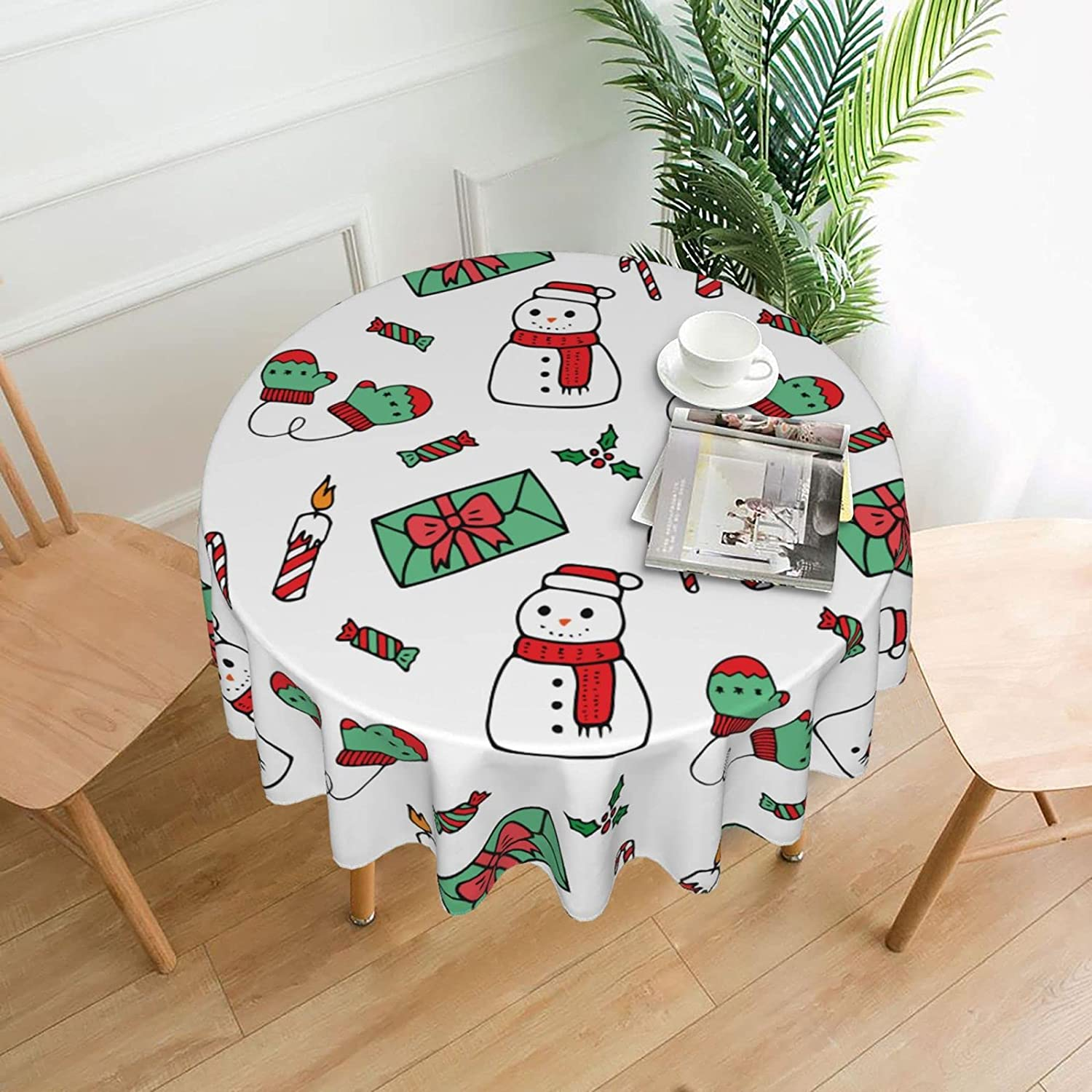 TUOKEO Round Tablecloth Water Resistant Cover outlet for Super sale period limited Washable Table