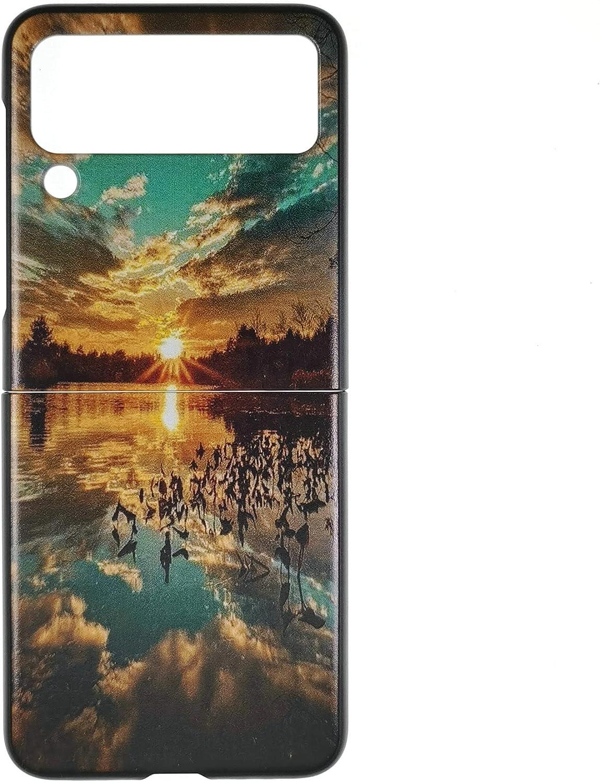 Oujietong Case for Samsung Galaxy Z Flip 3 5G Phone Case TPU Soft Cover FJ