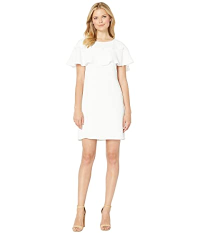 Adrianna Papell Cameron Woven Button Dress (Ivory) Women