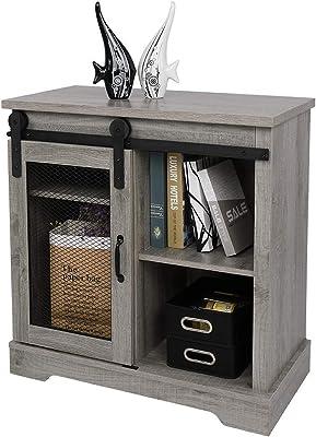 Multifunctional TV Cabinet Floor Sliding Mesh Door Home TV Cabinet with Living Room Storage Space Annacboy (Color : 1)
