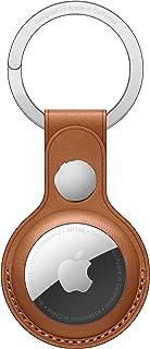 Apple AirTag-nyckelring i läder - sadelbrun