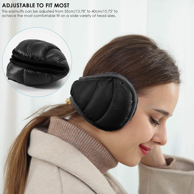 NCONCO Unisex Earmuffs Winter Behind The Head Ear Warmer Folding Luminous Ear Muffs for Men Women