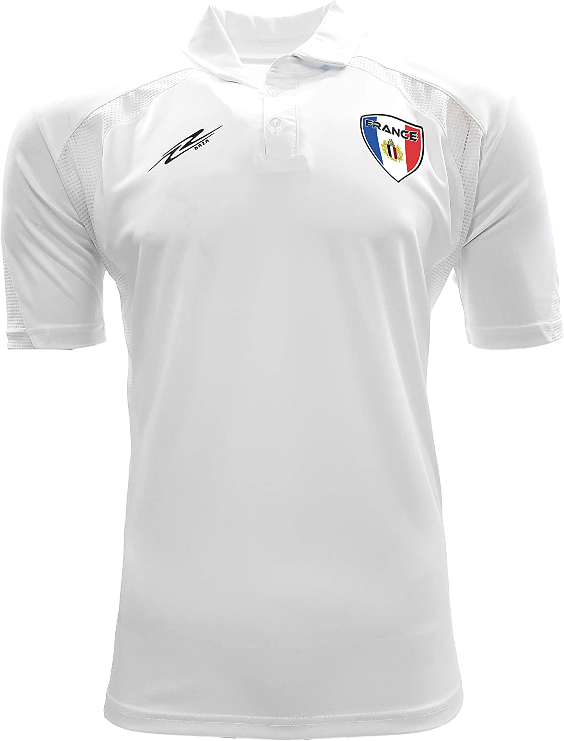 Arza Sports France Polo Shirt for Men Color Black/White/Blue/Navy