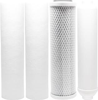 Denali Pure Lot de 5 filtres de rechange pour système PurePro RO105 RO – Comprend un filtre à charbon en polypropylène et ...