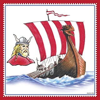 Essence of Europe Gifts E.H.G Norwegian Viking Ship Decorative Wall Tile
