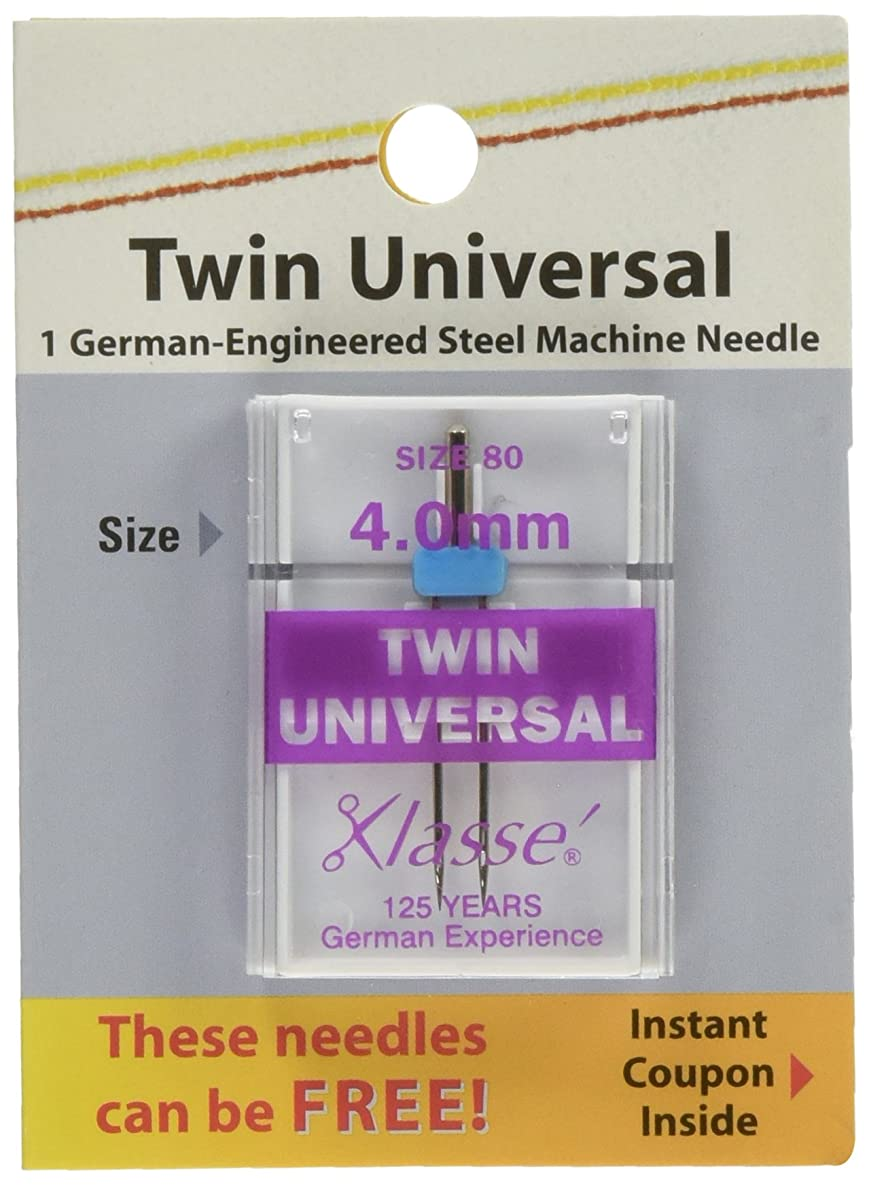 Tacony Corporation Klasse Twin Universal Machine Needles-4.0mm/80 1/Pkg