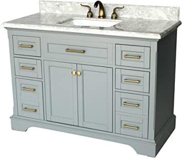 49 Inch Contemporary Style Single Sink Bathroom Vanity Model 921 G Amazon Com