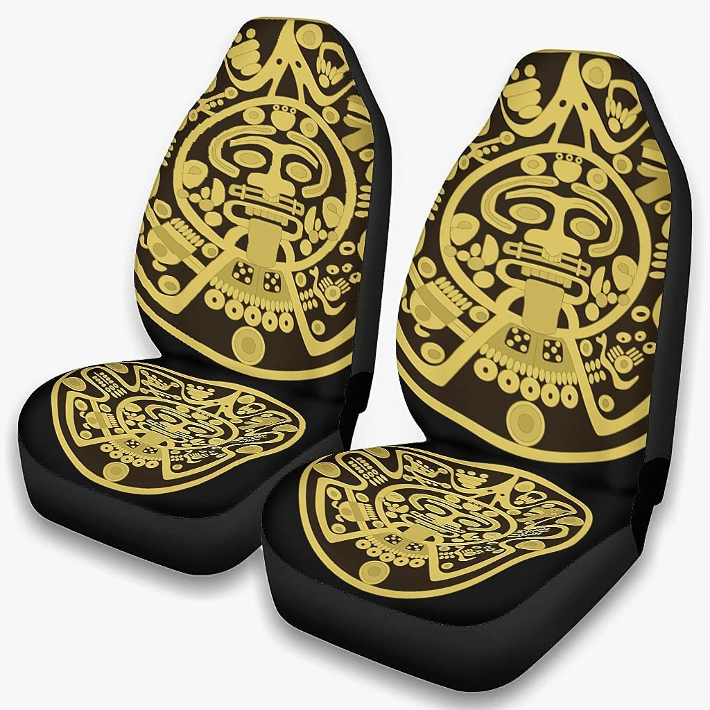 Harberry 2PCS Ancient Incan Mayan Price reduction Covers for Seat Universal 35% OFF Cars
