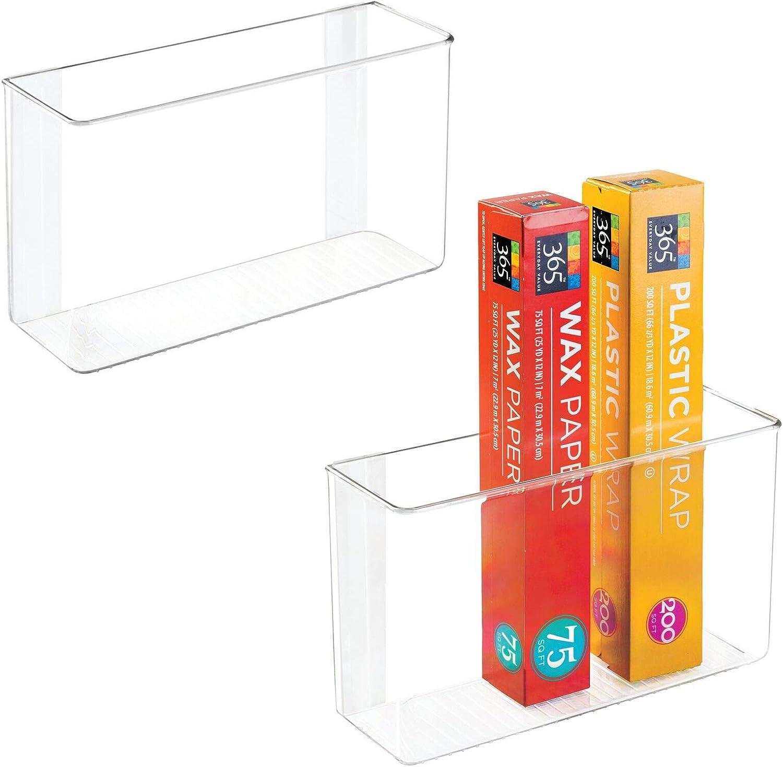 mDesign Modern Plastic Max 67% OFF Adhesive Cabinet Organizer fo Storage Max 55% OFF Bin