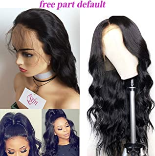 130density Lace Front Human Hair Wigs Natural Color Body Wave Brazilian Virgin Hair Pre Plucked Full Lace Wigs Bleached Knots Full Lace Human Hair Wigs With Baby Hair Natural Black 8inch