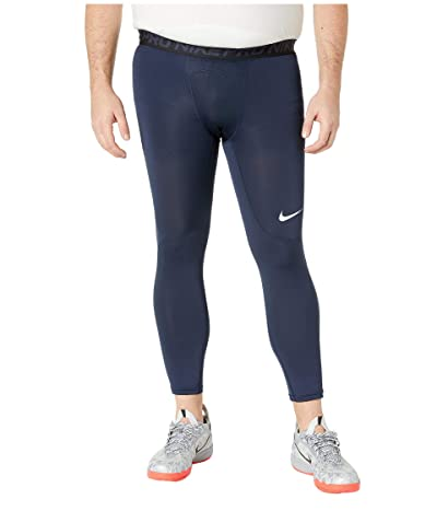 Nike Big Tall Pro 3/4 Tights (Obsidian/White/White) Men
