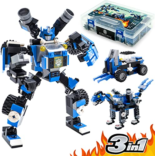 lowest Robot STEM Toy Figure | 3 in 1 Fun Creative Set | Construction Building Toys outlet sale for Boys and Girls Ages 6-14 Years online Old | Best Toy Gift for Kids | Free Poster Kit Included outlet sale