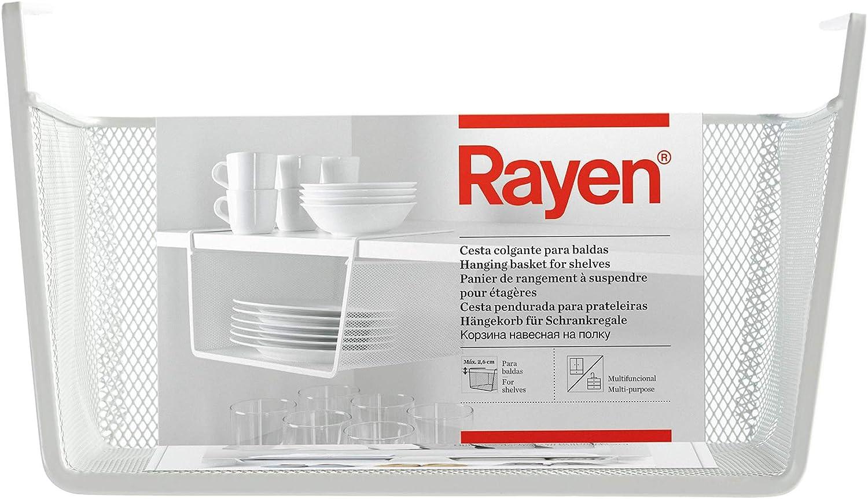 Rayen | Cesta Colgante para Baldas | Multifuncional | Fácil Instalación | Dimensiones: 30 x 15 x 25 cm