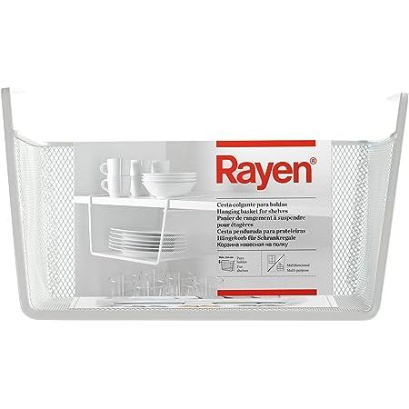 Rayen Panier Suspendu pour étagères, Blanc, 30 x 15 x 25 cm