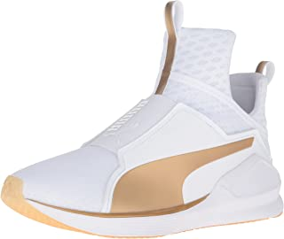 PUMA Women's Fierce White/Gold Cross-Trainer Shoe