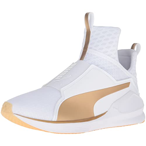 puma sneakers gold and white