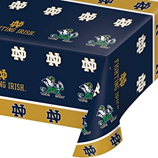 2-ct University of Notre Dame Fighting Irish Premium Plastic Table Covers College Football Party