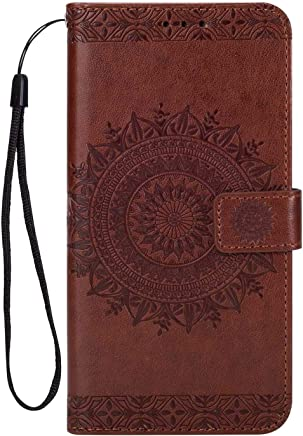 Huawei Mate Case  Bear Village  Premium Leather Flip Folio Case with Card Slot  TPU Shockproof Interior Protective Case for Huawei Mate Brown