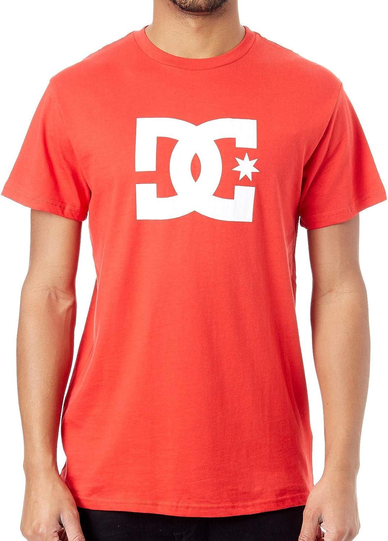 DC Clothing Men's Star TeeShirt, Racing red, L