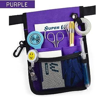 OZSTOCK® Nurse Pouch Extra Pocket Quick Pick Vet Agecare Bag with Belt Strap (Purple)