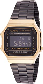 Casio Casual Watch Digital Display for Unisex A-168WEGB-1B