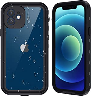 Ruky iPhone 12 mini Waterproof Case, Built-in Screen Protector IP68 Underwater Full Body Sealed Cover Clear Sound Anti-Scr...