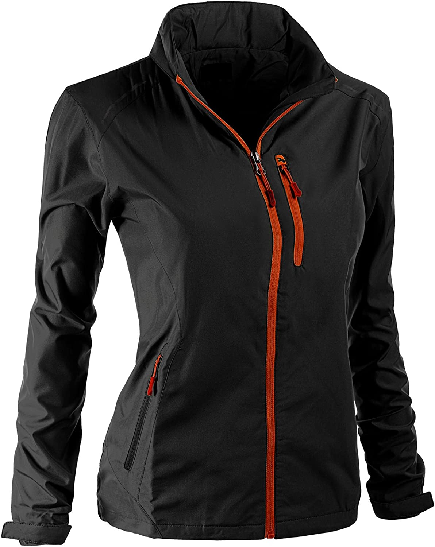 Xpril Women's All Weather Proof Outdoor Windbreaker Jacket