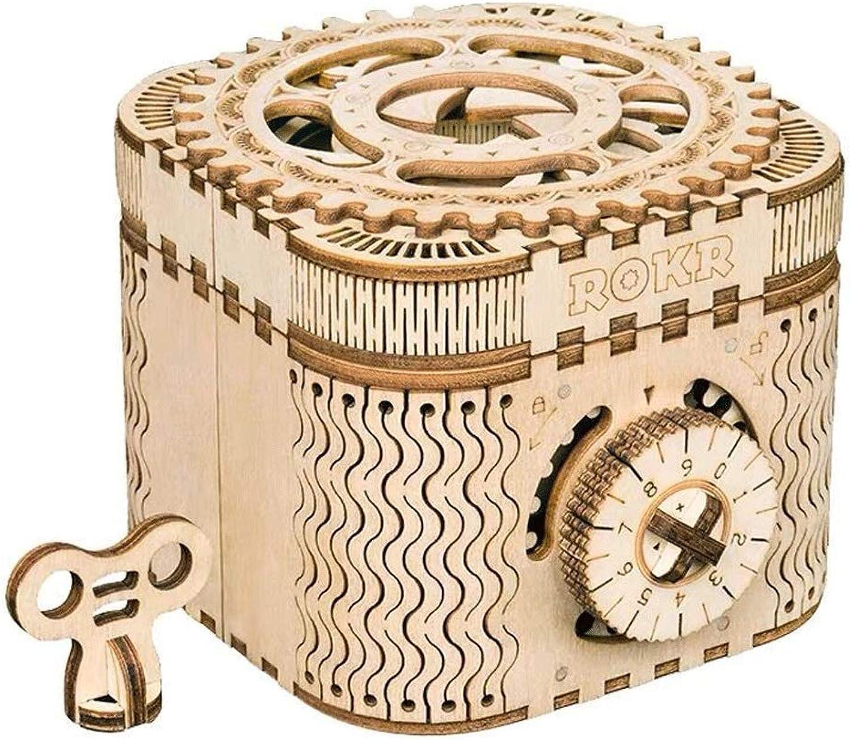 ganancia cero GLOOPE Caja de Madera Modelo Treasure Box - 3D Puzzle Puzzle Puzzle de Madera - Juguetes educativos y de ingeniería para Niños Adultos  popular