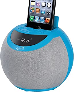 iLive 30-pin Clock Radio with Dock - Retail Packaging - Blue