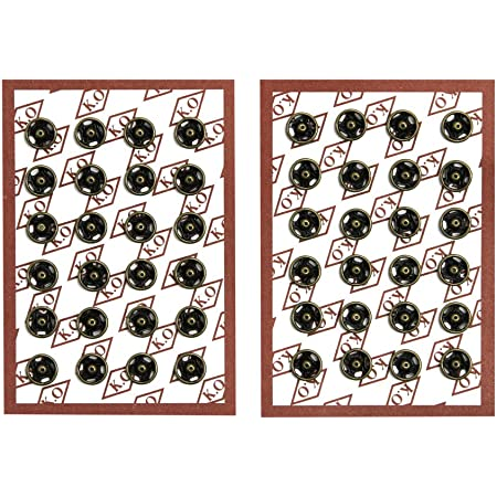 6mm 144 Sets of Sew-on Snaps Black
