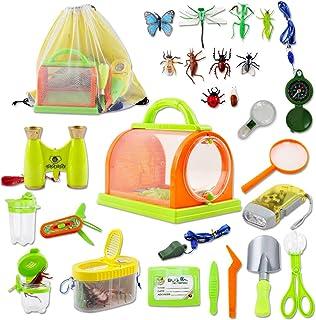 comprar comparacion deAO Juego de Exploración Conjunto de Aventurero Incluye Mochila, Kit Atrapa Insectos y Accesorios Actividad Infantil de C...