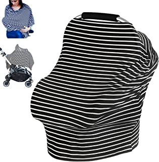 Nursing Breastfeeding Cover Scarf, Ztacking Baby Car Seat Infant Canopy Nursing Pads Stretchy Infinity Nursing Cover up Shopping Cart Stroller for Girls Boys - Multi Use Breastfeeding Cover Up