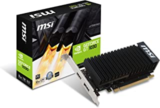 MSI GEFORCE GT 1030 2GH LP OC - Tarjeta gráfica (GeForce GT 1030, 2 GB, GDDR5, 64 bit, 6008 MHz, PCI Express x16 3.0)