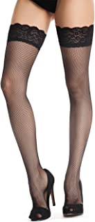 Sexy Classical Lace Top Fishnet Thigh High Mesh Stockings