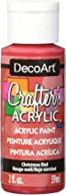 DecoArt DCA20 Crafter's Acrylic Craft Paint, Christmas Red, 59ml