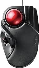 erekomu Trackball Mouse Wiredx5927;x7389; 8Button Tilt Function Black Medium-ht1urxbk