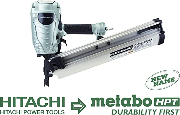 Metabo HPT NR90AES1 21 Degree Pneumatic Framing Nailer The Preferred Pro Brand Of Pneumatic Nailers Lightweight And Well Balanced Easy Depth Adjustment Accepts 2 To 3 1 2 Collated Framing Nails