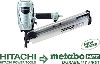 Metabo HPT NR90AES1 21 Degree Pneumatic Framing Nailer, The Preferred Pro Brand of Pneumatic Nailers, Lightweight and Well-balanced, Easy Depth Adjustment, Accepts 2