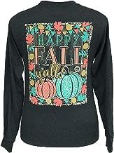 Girlie Girl Originals Happy Fall Y'all Long Sleeve T-Shirt Dark Heather
