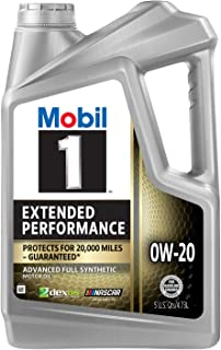Mobil 1 Extended Performance Full Synthetic Motor Oil 0W-20, 5 Quart