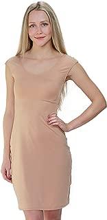 Bradshaw & Palmer The Underall Cap Sleeve Knee Length Nude Dress Slip