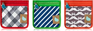 Reusable Mini Snack Pouch with Zipper (3 Pack) (Boy)