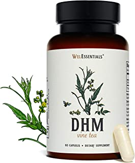 WelEssentials 100% Pure Dihydromyricetin DHM Vine Tea Moyeam - 500mg x 30 Servings - Max Strength Dietary Supplement for I...