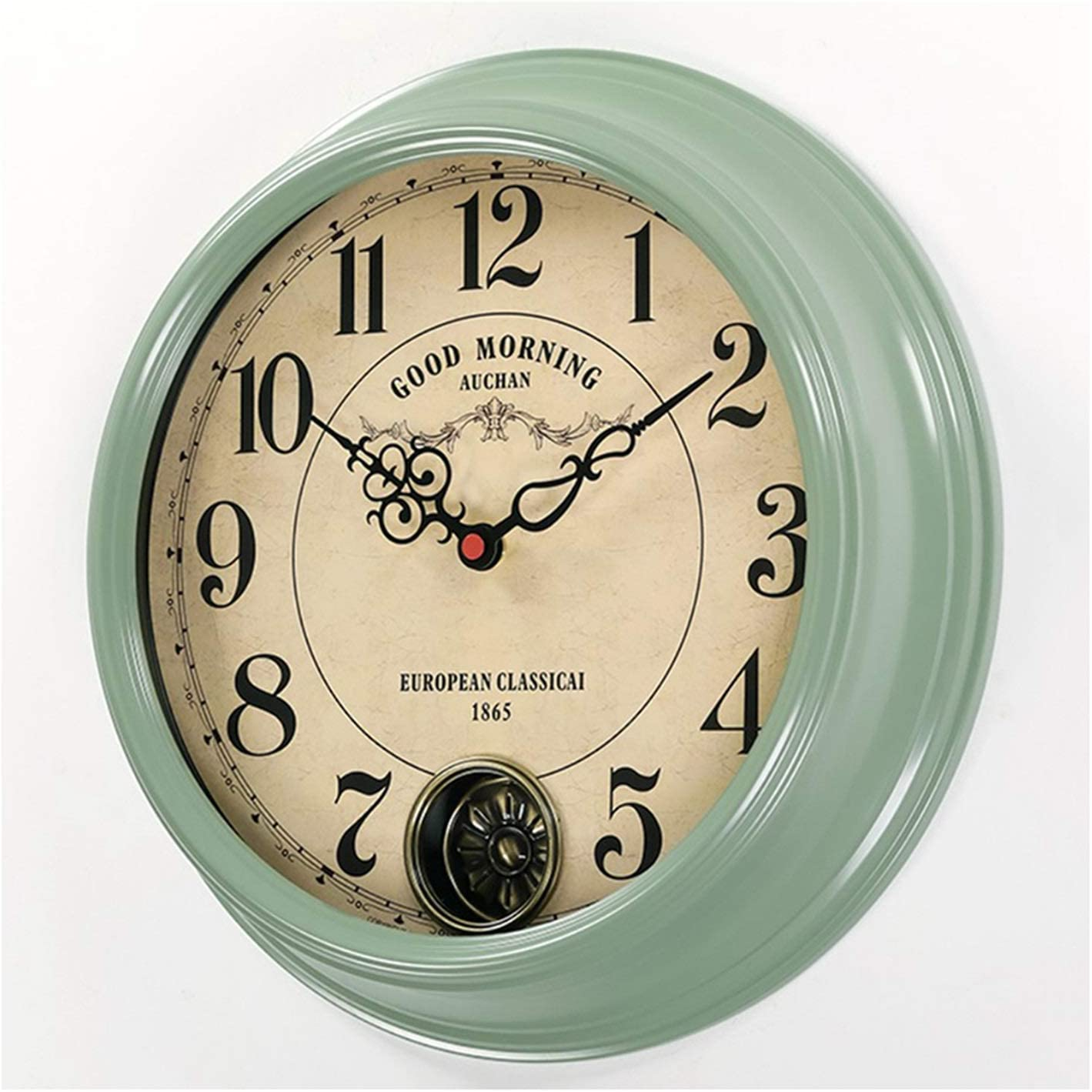 Las Vegas Mall Houston Mall Wall Clock Battery Operated Rustic Non-Ticking Gre Vintage